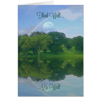 Rainbow and Pond Healing Feel Better Card