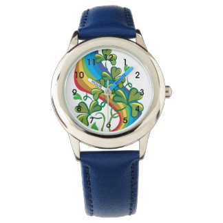 Rainbow And Shamrocks Watch