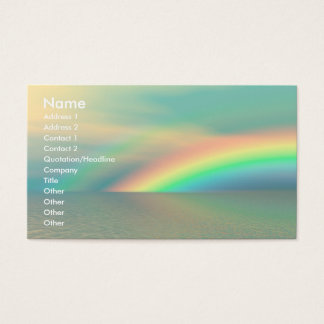 Rainbow and Water Business Card