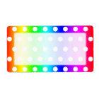 Rainbow and White Polka Dots