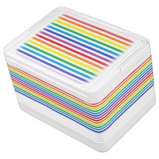 Rainbow and White Stripes