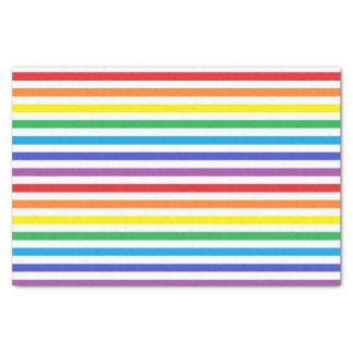 Rainbow and White Stripes Tissue Paper