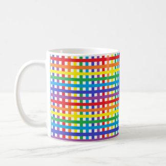Rainbow and White Weave Coffee Mug
