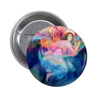 Rainbow Angel 2 Inch Round Button