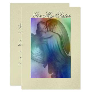 Rainbow Angel  Sister Card