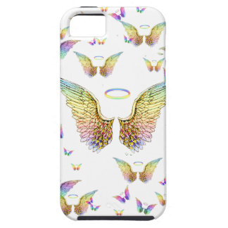 Rainbow Angel Wings and Halos iPhone 5 Cases