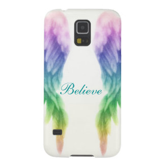 Rainbow Angel Wings Galaxy S5 Cases