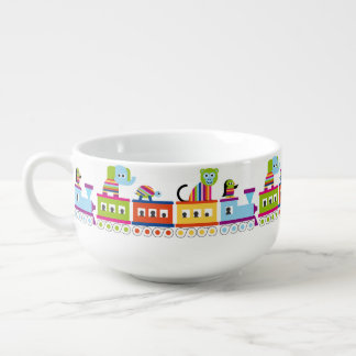 Rainbow Animal Train Soup Mug