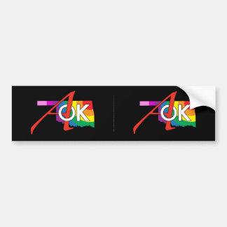 Rainbow AOK Bumper Sticker! Bumper Sticker