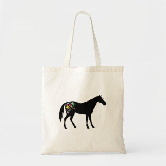 Rainbow appaloosa tote bag