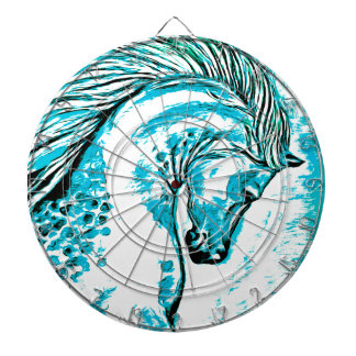 Rainbow Arabian Manga Teal Dartboards