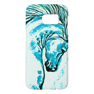 Rainbow Arabian Manga Teal Samsung Galaxy S7 Case