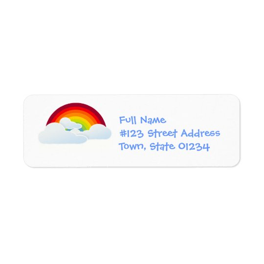 Rainbow Arch Mailing Labels
