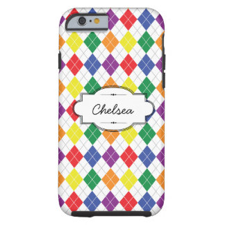 Rainbow Argyle Custom iPhone 6 Tough Case