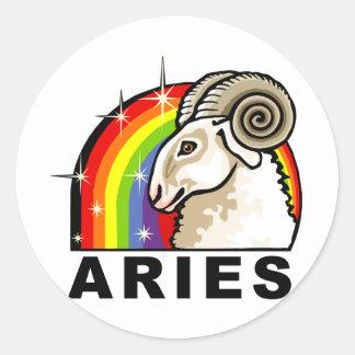 Rainbow Aries Classic Round Sticker