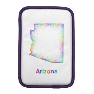 Rainbow Arizona map iPad Mini Sleeve