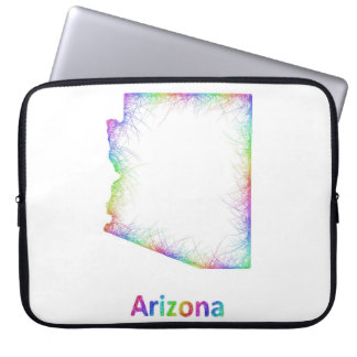 Rainbow Arizona map Laptop Sleeves