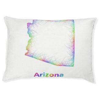 Rainbow Arizona map Large Dog Bed