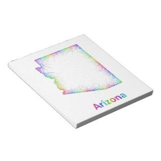 Rainbow Arizona map Notepad