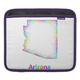 Rainbow Arizona map Sleeves For iPads