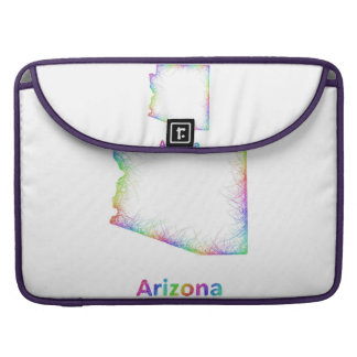 Rainbow Arizona map Sleeves For MacBooks