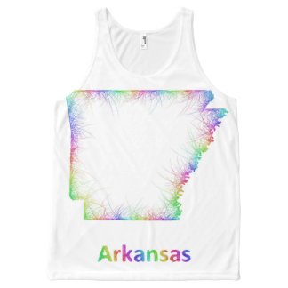 Rainbow Arkansas map