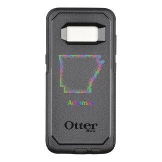 Rainbow Arkansas map OtterBox Commuter Samsung Galaxy S8 Case