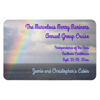 Rainbow at Sea Group Cruise Stateroom Door Marker Magnet