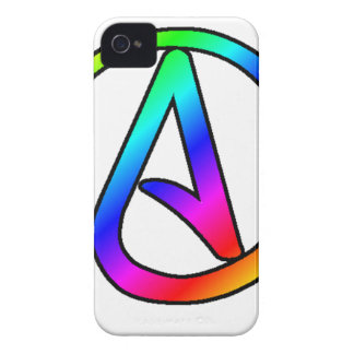 Rainbow Atheist Symbol iPhone 4 Case