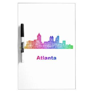 Rainbow Atlanta skyline Dry Erase Boards
