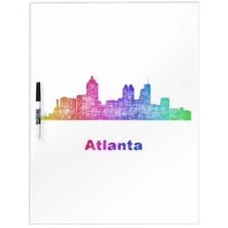 Rainbow Atlanta skyline Dry-Erase Boards