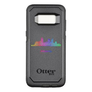 Rainbow Atlanta skyline OtterBox Commuter Samsung Galaxy S8 Case