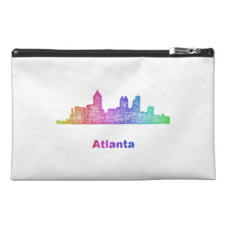 Rainbow Atlanta skyline Travel Accessories Bags