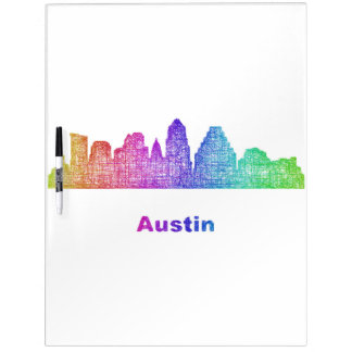 Rainbow Austin skyline Dry-Erase Whiteboards