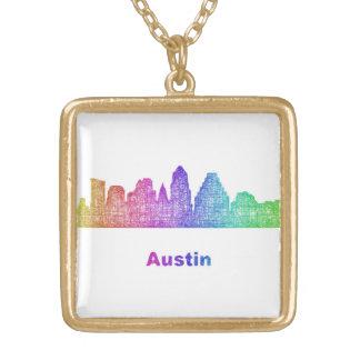 Rainbow Austin skyline Gold Plated Necklace