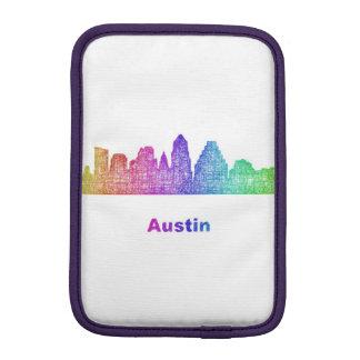 Rainbow Austin skyline iPad Mini Sleeves