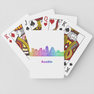 Rainbow Austin skyline Poker Deck