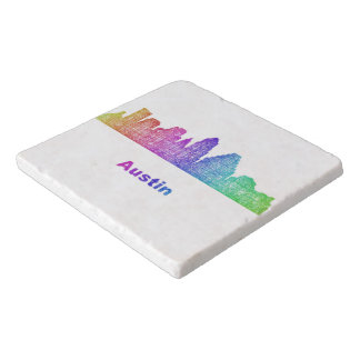 Rainbow Austin skyline Trivet