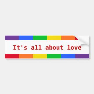 Rainbow autosticker bumper sticker