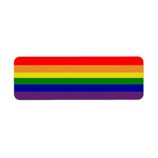 Rainbow Avery Label Return Address Label