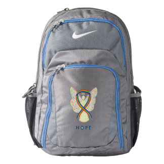 Rainbow Awareness Ribbon Angel Customized Backpack