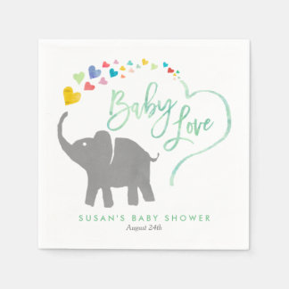 Rainbow Baby, Elephant Baby Shower Disposable Napkin