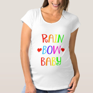 Rainbow Baby Maternity Shirt with Hearts