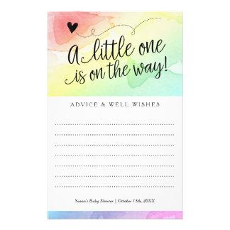 Rainbow Baby Shower, Gender Neutral Advice Wishes Flyer