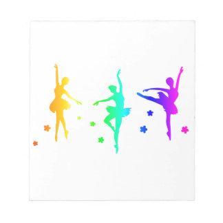 Rainbow Ballerina Notepads
