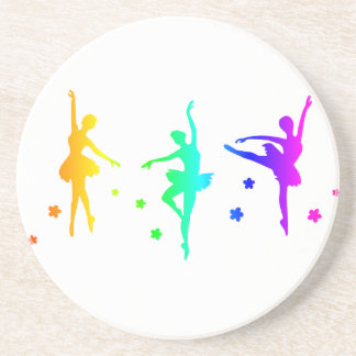 Rainbow Ballet Drink Coasters