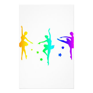Rainbow Ballet Stationery
