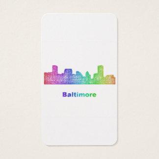 Rainbow Baltimore skyline Business Card
