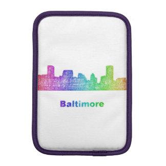 Rainbow Baltimore skyline iPad Mini Sleeves