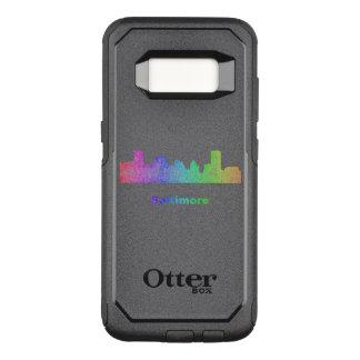 Rainbow Baltimore skyline OtterBox Commuter Samsung Galaxy S8 Case
